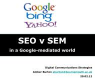 Lecture 5 – SEO &SEM